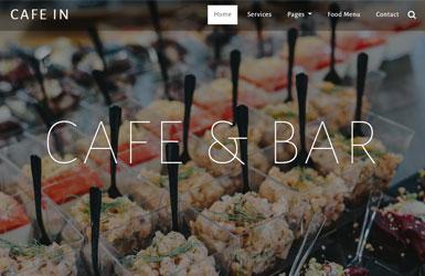 宽屏国外咖啡店餐馆网站
