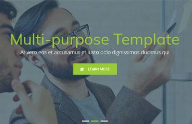 绿色响应式的广告设计公司网站ui模板